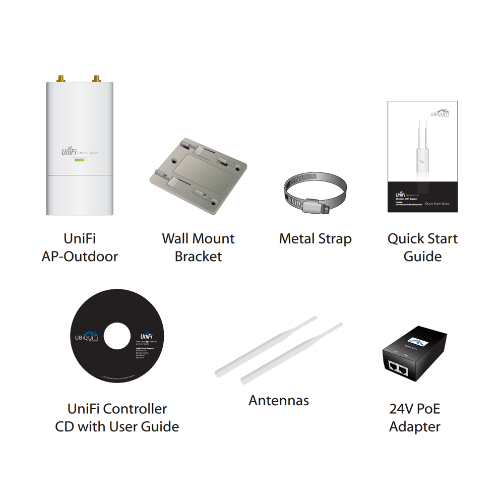 Ubiquiti Unifi Outdoor 5ghz 6dbi Wifi Poe Access Point W 3 Year Ap Ubiquitis New 30 Software Offers Unique And Innovative Zero Hand Off Roaming Technology That Enables Mobile Users To Roam Anywhere Seamlessly