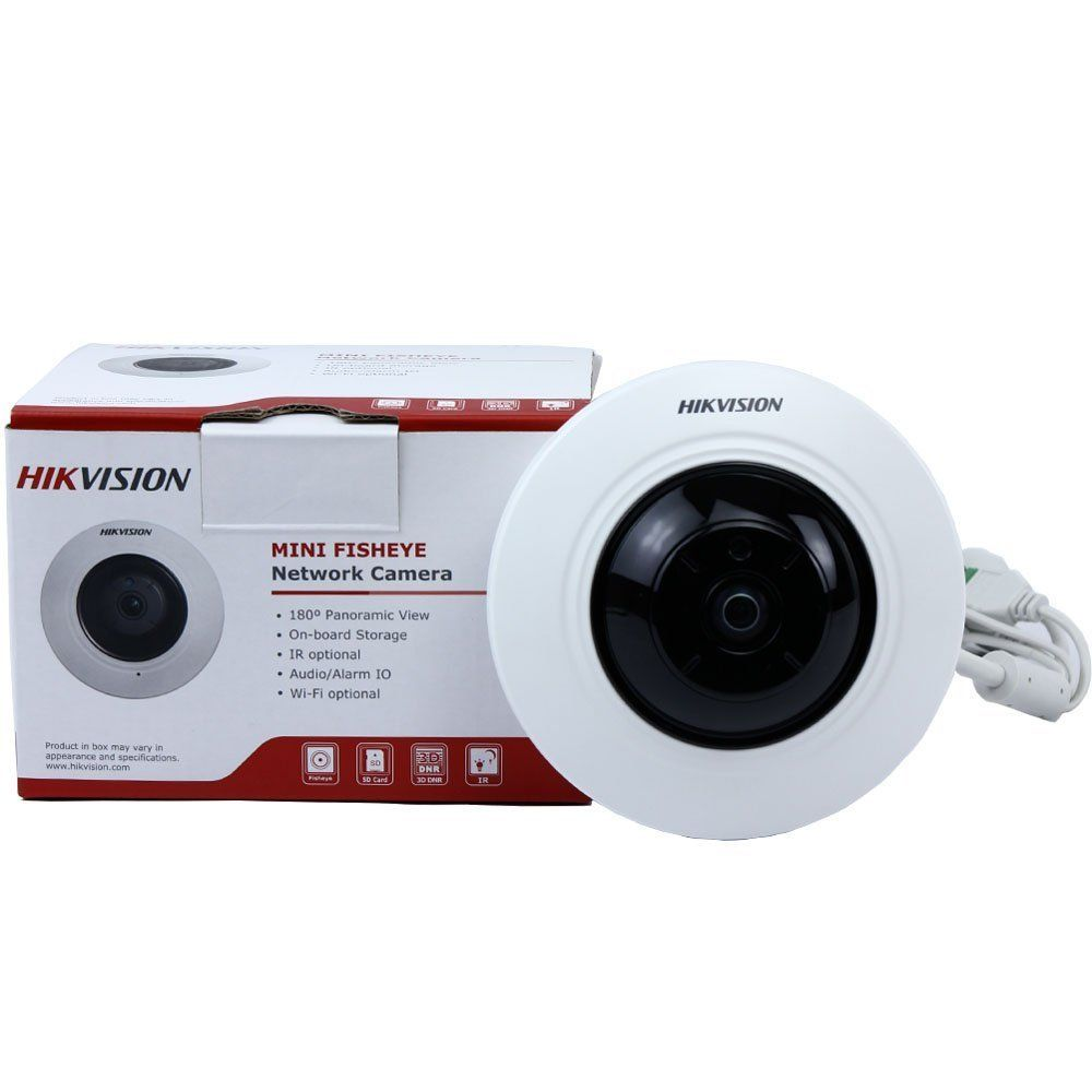 Hikvision DS-2CD2942F Mini Indoor HD PoE Dome IP Camera w/ Fisheye